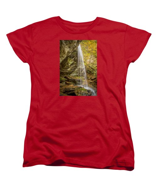 Window Falls In The Autumn Women's T-Shirt (Standard Cut) by Bob Decker