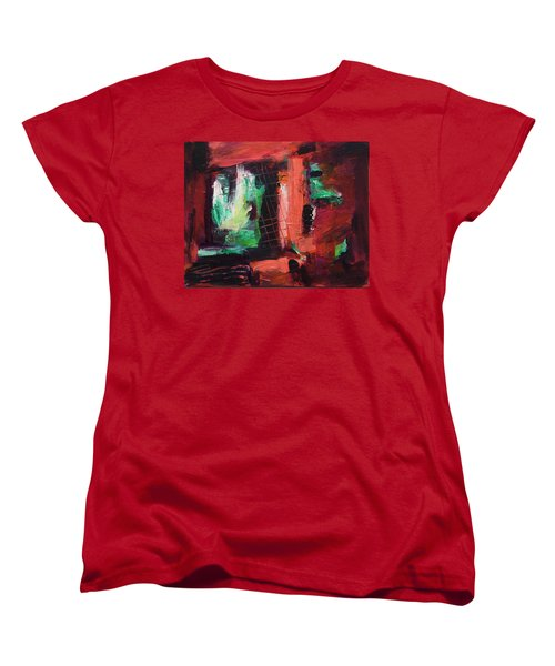 Window Original Acrylic Painting Women's T-Shirt (Standard Cut) by Yulia Kazansky