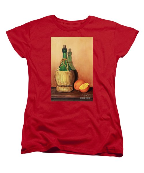 Wine And Oranges Women's T-Shirt (Standard Cut) by Pattie Calfy