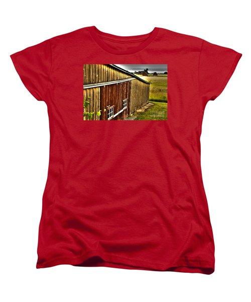 Wine Barn Women's T-Shirt (Standard Cut) by William Norton