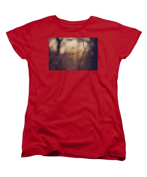 Women's T-Shirt (Standard Cut) featuring the photograph Winter Whispers by Shane Holsclaw