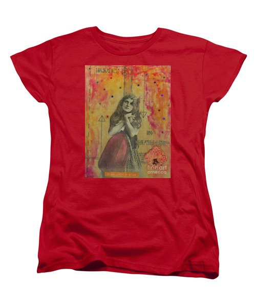 Women's T-Shirt (Standard Cut) featuring the mixed media Wish Upon A Star by Desiree Paquette