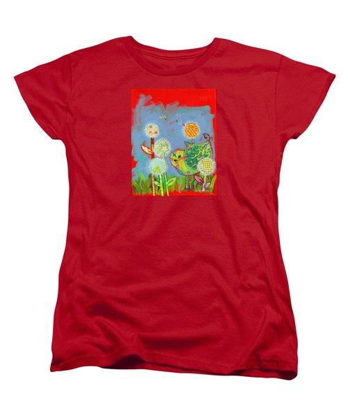 Wishful Thinking Birdy Women's T-Shirt (Standard Cut) by Shelley Overton