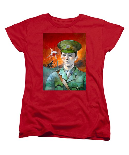 Women's T-Shirt (Standard Cut) featuring the painting W.j. Symons Vc by Ray Agius