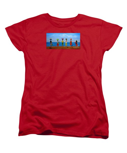 Women Of Africa  Women's T-Shirt (Standard Cut) by Bev Conover