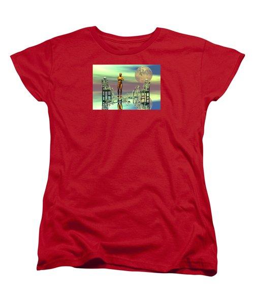 Women Waiting For The Perfect Man Women's T-Shirt (Standard Cut) by Claude McCoy