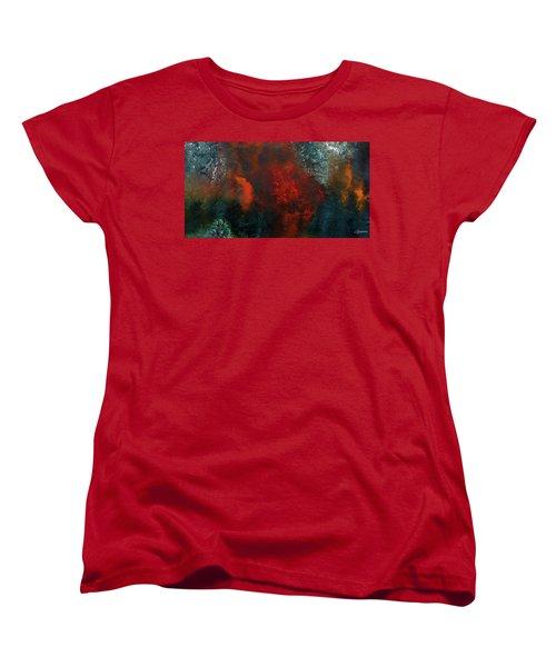 Women's T-Shirt (Standard Cut) featuring the painting Wonderland by Carmen Guedez