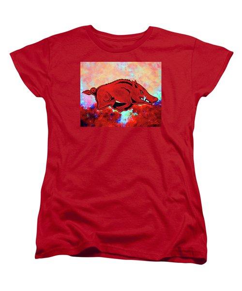 Woo Pig Sooie 3 Women's T-Shirt (Standard Cut) by Belinda Nagy