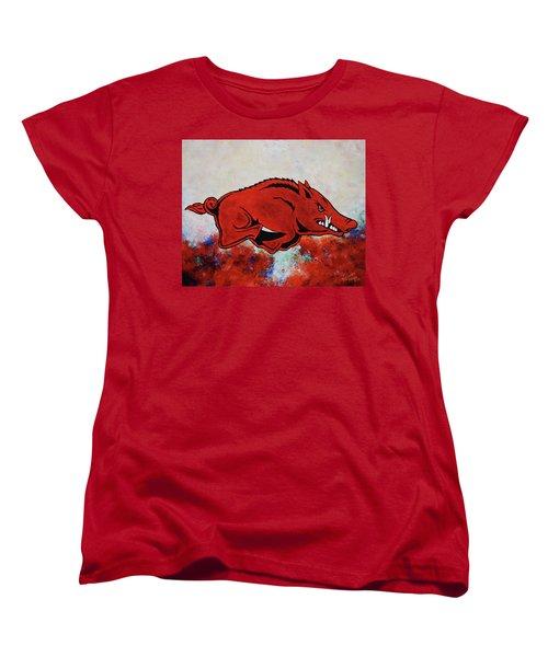 Woo Pig Sooie Women's T-Shirt (Standard Cut) by Belinda Nagy