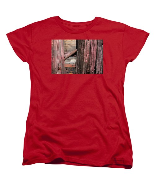 Women's T-Shirt (Standard Cut) featuring the photograph Wood And Rod by Karol Livote