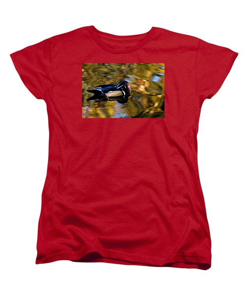 Wood Duck Women's T-Shirt (Standard Cut) by Clayton Bruster