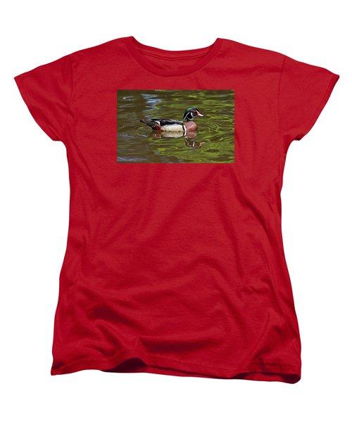 Women's T-Shirt (Standard Cut) featuring the photograph Wood Duck by Sandy Keeton