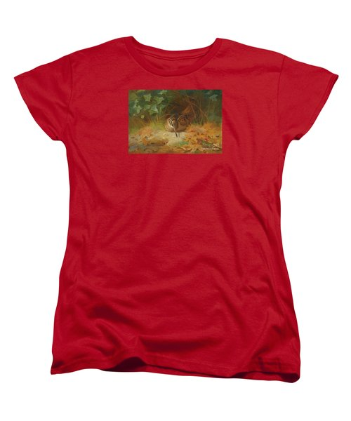 Woodcock Women's T-Shirt (Standard Cut) by Celestial Images