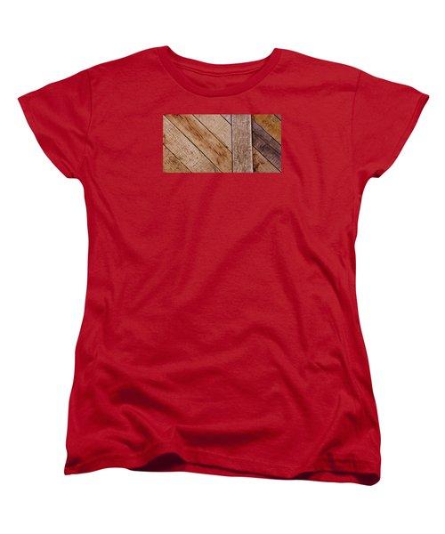 Women's T-Shirt (Standard Cut) featuring the photograph Wooden Window Shutters by Werner Lehmann