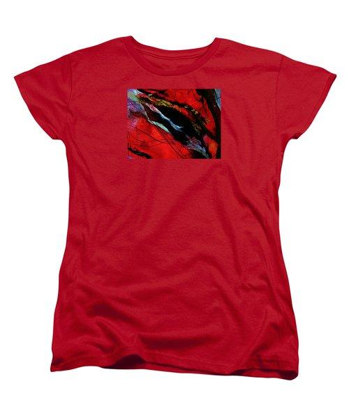 Wrap It Up Winter Women's T-Shirt (Standard Cut) by Lisa Kaiser