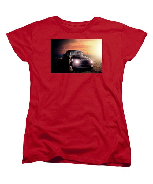Women's T-Shirt (Standard Cut) featuring the digital art Wrecked  by Nathan Wright