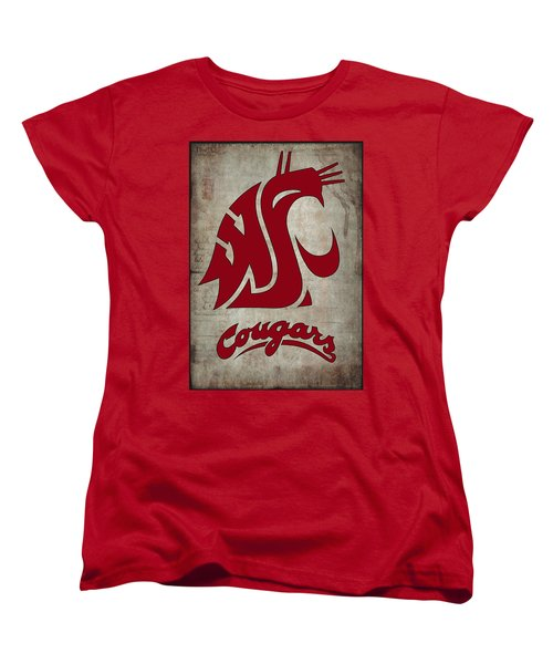 W S U Cougars Women's T-Shirt (Standard Cut) by Daniel Hagerman