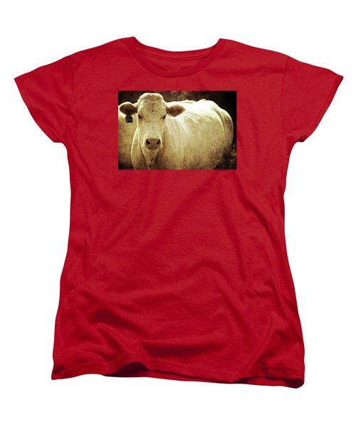 Women's T-Shirt (Standard Cut) featuring the photograph Yeg 3110 by Trish Mistric