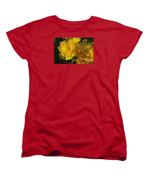 Yellow Abstraction Women's T-Shirt (Standard Cut) by Jean Bernard Roussilhe