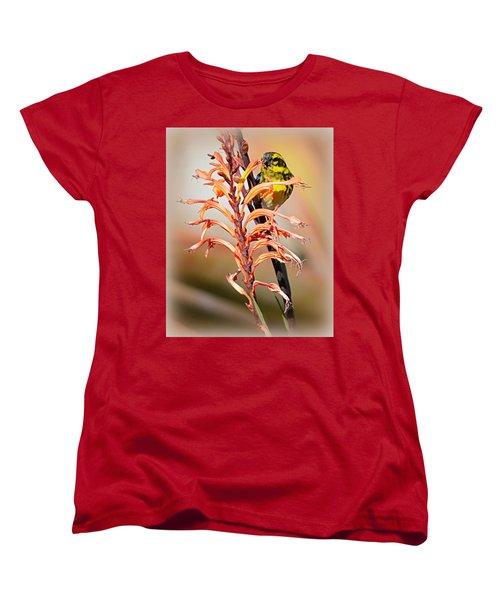 Women's T-Shirt (Standard Cut) featuring the photograph Yellow Bird Hi by AJ Schibig