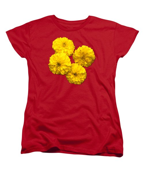 Yellow Flowers Women's T-Shirt (Standard Cut) by Bob Slitzan