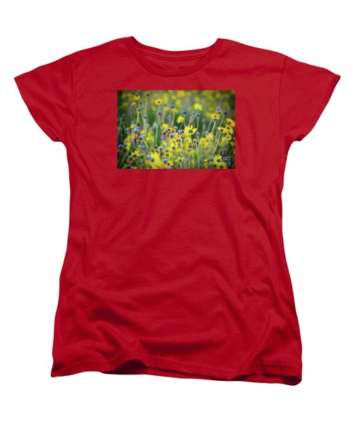 Women's T-Shirt (Standard Cut) featuring the photograph Yellow Flowers by Kelly Wade