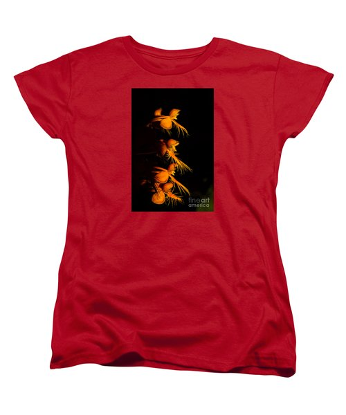 Women's T-Shirt (Standard Cut) featuring the photograph Yellow-fringe Orchid by Barbara Bowen
