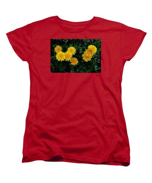 Women's T-Shirt (Standard Cut) featuring the photograph Yellow In Green by Dorin Adrian Berbier