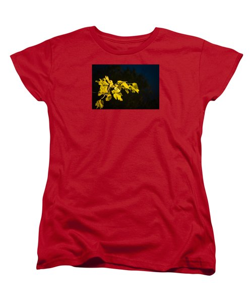 Women's T-Shirt (Standard Cut) featuring the photograph Yellow Leaves by Randy Bayne