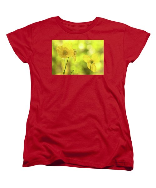 Women's T-Shirt (Standard Cut) featuring the photograph Yellow Poppies - California Poppy Flower by Peggy Collins