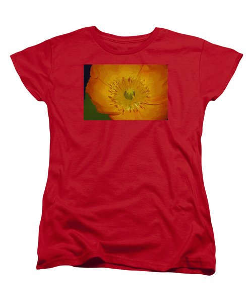 Women's T-Shirt (Standard Cut) featuring the photograph Yellow Poppy by Donna Bentley