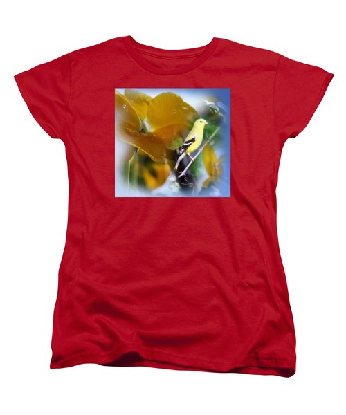 Women's T-Shirt (Standard Cut) featuring the photograph Yellow Spring by Cathy  Beharriell