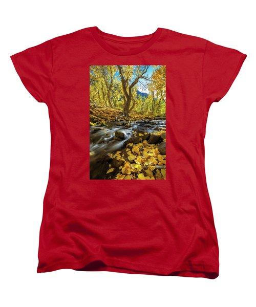 Yellow Women's T-Shirt (Standard Cut) by Tassanee Angiolillo