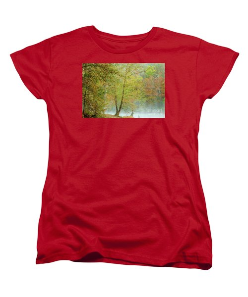 Women's T-Shirt (Standard Cut) featuring the photograph Yellow Trees by Iris Greenwell