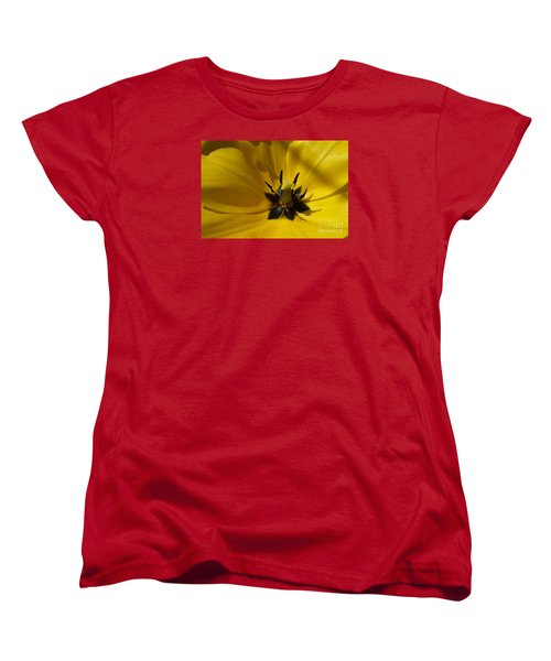 Yellow Tulip 1 Women's T-Shirt (Standard Cut) by Jean Bernard Roussilhe