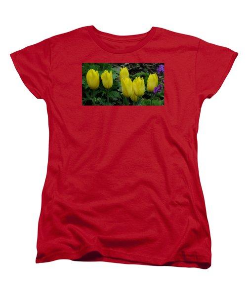 Yellow Tulips Women's T-Shirt (Standard Cut) by John Topman