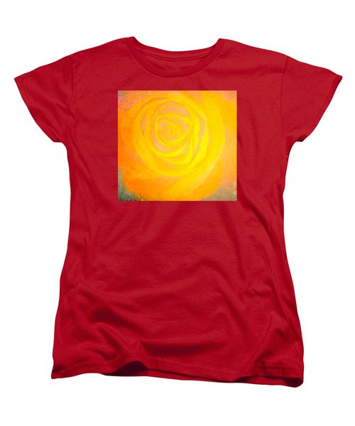 Yelloworange Rose Women's T-Shirt (Standard Cut) by Kim Henderson