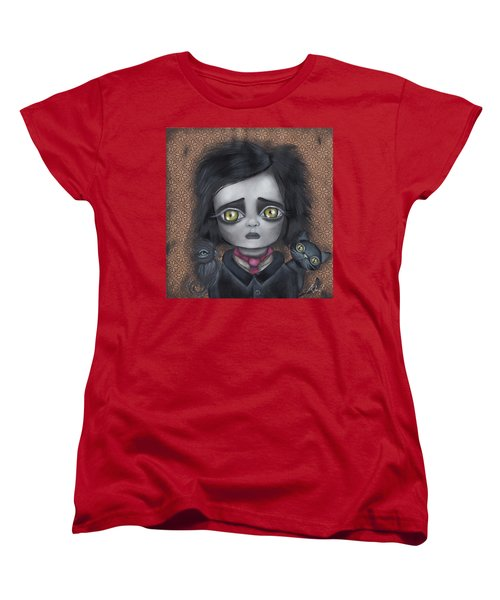 Young Poe Women's T-Shirt (Standard Cut) by Abril Andrade Griffith