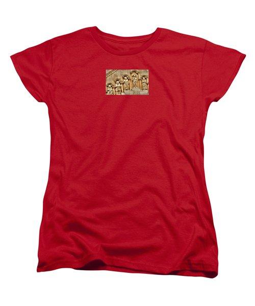 Women's T-Shirt (Standard Cut) featuring the pyrography Yury Bashkin Wall Budapesht Hyngary by Yury Bashkin