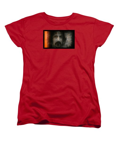 Women's T-Shirt (Standard Cut) featuring the painting Zappa-the Deathless Horsie by Michael Cleere