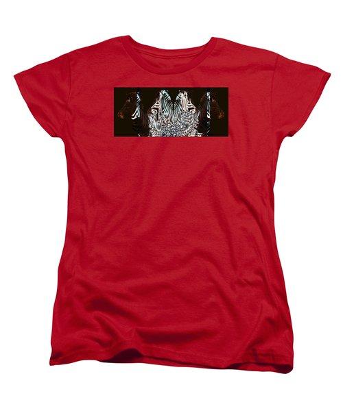 Zebraic Equation Women's T-Shirt (Standard Cut) by Stephanie Grant
