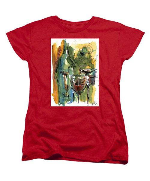 Women's T-Shirt (Standard Cut) featuring the painting Zin-findel by Robert Joyner