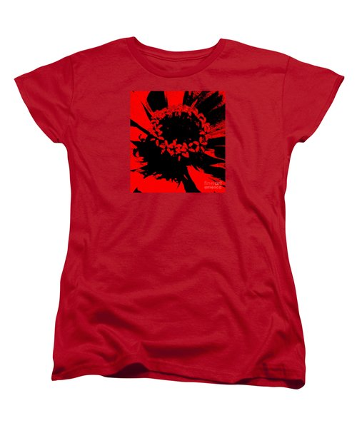 Women's T-Shirt (Standard Cut) featuring the photograph Zinnia Crown by Jeanette French