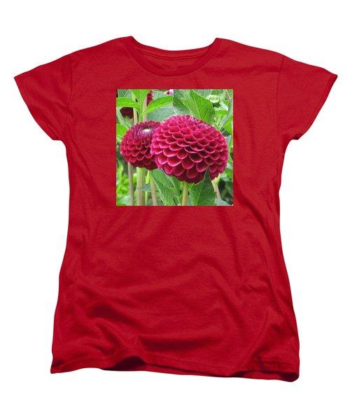 Zinnia Duet Women's T-Shirt (Standard Cut) by Karen J Shine