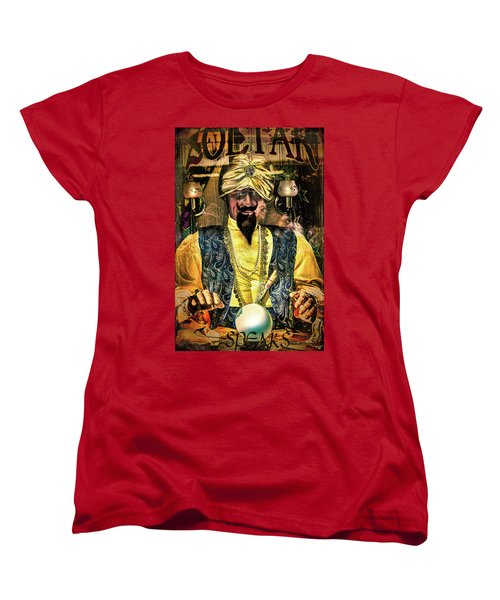 Women's T-Shirt (Standard Cut) featuring the photograph Zoltar by Chris Lord