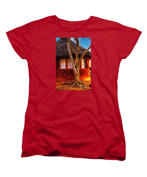 Women's T-Shirt (Standard Cut) featuring the photograph Zulu Hut by Rick Bragan