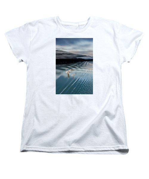Journey With A Sea Gull Women's T-Shirt (Standard Cut) by Gary Warnimont