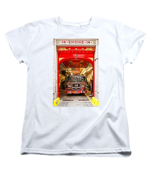 New York Fire Department Engine 14 Women's T-Shirt (Standard Cut) by Luciano Mortula
