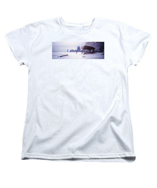 Women's T-Shirt (Standard Cut) featuring the photograph  North Ave Beach Chess Palv Chicago Lake Front  by Tom Jelen