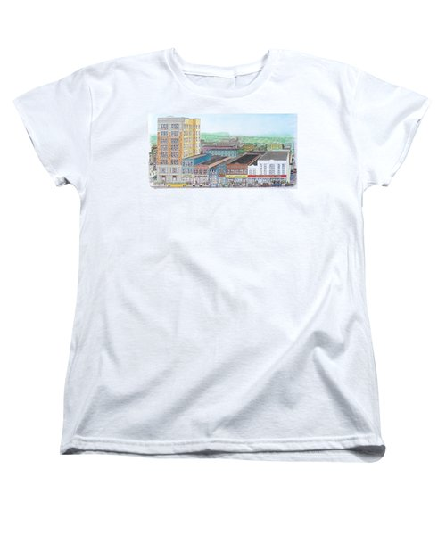 Portsmouth Ohio Dime Store Row 4th To 5th Women's T-Shirt (Standard Cut) by Frank Hunter